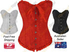 Vintage Inspired Fashion Corset Top Brocade Burlesque Sweetheart Cotton Blend