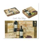 Set of 6 Placemat and Coaster set French Country Bistro Wineyard  NEW Gift