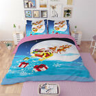 Christmas Gift Single Queen King Size Quilt Duvet Doona Cover Set Sheet Fitted