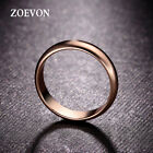 Fashion Women Rose / White Gold Plated Wedding Ring Band Engagement Ring Jewelry