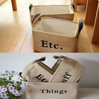 Portable Storage Basket Household Organizer Fabric Cube Bin Basket Container NEW