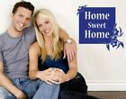 Home Sweet Home Floral Quote - highest quality wall decal stickers