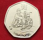 Fifty Pence 50p Coin - Olympic Kew Gardens Beatrix Triathlon Judo Offside Tennis