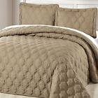 Serenta Down Alternative Quilted Bradly 3 PC Bedspread Set, Twin/Queen/King image