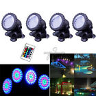 4pcs RGB/Multicolor/Blue 36LED Spot Lights Underwater Lamp For Tank Pond Rockery