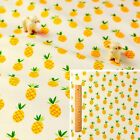160cmWIDE! YELLOW Meter/Fat Quarter/FQ 100% Cotton Fabric FQ Pineapple Sew Craft