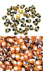 "Small ORANGE, YELLOW, or MIX BUMBLEBEE Stick-on Wood Pieces 1/2"" Scrapbook Craft"