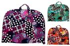 Checker Paisley Cotton Quilted Lightweight Garment Luggage Overnight Travel Bag