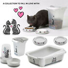 CatCentre® Cat 2x Bowls or Feeder or Tray or Whole Set - Cats in Love Collection