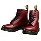 Dr Martens Leather Designer Stylish 8 Eyelet Dress Casual Boots Cherry Red 1460