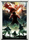 Wall Scroll Poster Fabric Painting Attack on Titan Key Roles Eren Armin Mikasa