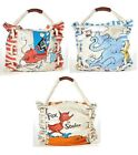 ASD Living DR SEUSS Large CANVAS Tote Handbag CAT HORTON FOX Your Choice