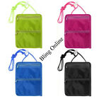 11x15cm ZIPPED NECK CORD TRAVEL POUCH PURSE HOLIDAY CASH MONEY COINS KEY CARDS
