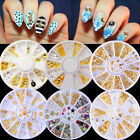 Shell  DIY Gold Silver 3D Nail Rhinestones Decoration  Wheel
