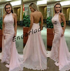 Backless Sheath Evening Bridesmaid Dress Lace Pageant Formal Prom Party Gown New