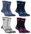 Storm Bloc - 2 Pack Ladies Cushioned Breathable Cotton Hiking Walking Boot Socks