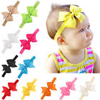4 Inch Girl Baby Headbands Bowknot Hair Band Grosgrain Ribbon Hair Bows Headwear