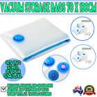 Vacum Sealed Clothing Bags Reseable Travel Storage Space Saver