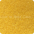 EDIBLE YELLOW SPARKLING GLITTER SUGAR CRYSTALS Cupcake Cake Sprinkles 25g - 500g