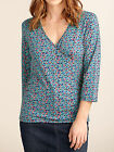 New Crossover Rock new blue Flower Palm Whirler Top tunic t ( RRP was £35.00)