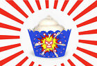 MEXICAN WRESTLING Wrestle Mania Party Wraps Cupcake Cases Cake Wrappers cup cake