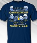 Road to the Championship Runs thru Nashville Blue Style  - Adult Sizes Brand New