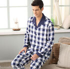 Blue Cheap Cotton 2PCs Male's Casual Clothes Sleepwear/ Pajama Sets L/XL/2XL/3XL