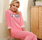 New Cute 100% Cotton Lace Home Clothes 2pcs Female's Sleepwear Pajama set M/L/XL