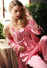 Fall Lace Night Gown Silk Blend 3pcs Lady's Sleepswear/ Pajama Sets S/M/L/XL/2XL