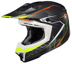 HJC Adult CL X7 Blaze Black Neon Green Orange Dirt Bike Helmet Snell DOT