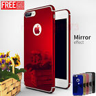 Ultra thin 360 Hard Mirror Case +Tempered Glass Cover For Apple iPhone 6s 7 Plus