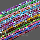 """Top Crystal Glass Round Matte Frosted Inside AB Beads 6mm 8mm 10mm 12mm 15.5"""""""