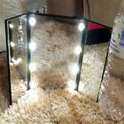8/16/20LED  Make-up Mirror Led Lighted Mirror Compact Pocket Mirror Beauty Lamp