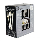 180 Disposable Silverware Silver Plastic Party Cutlery Set Flatware Forks Knive