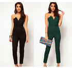 Ladies Women Sexy Strapless V-neck Jumpsuit Overalls Playsuits Formal Backless