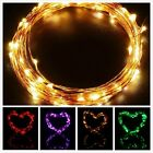 66 LED Copper String Lights Remote Control Auto Timer Battery Powered 5M/16.4ft
