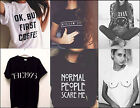 New Fashion Letters Printed Women Men Casual T-Shirts Boy Girls Summer Tees Tops