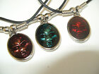 """SKULL HEAD  NECKLACE / PENDENT WITH 18"""" BLACK CORD"""