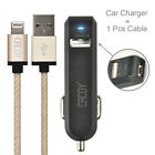 CACOY Apple MFi Certified Lightning USB Cable 6.6FT/2M+Dual-Port USB Car Charger