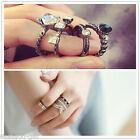HX Womens Fashion black ring fashion ethnic han edition offered eight ring