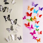 18 pcs 3D Colorful Butterfly Decor Decals Fridge Wall Stickers Removable Vivid