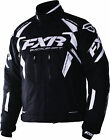 FXR Mens Black/White Backshift Pro Insulated Snowmobile Jacket Snow Snocross