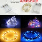 2m/3m/4/5/10m Led Battery Operated String Fairy Light Copper Wire Halloween Xmas