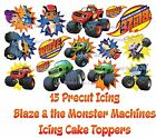 15pc or 7pc Edible *PRECUT* Icing Blaze & The Monster Machines Cake Toppers