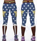 Wonder Woman Yoga Compression Pants Red Fitness Leggings Elastic Waist Sports Ti