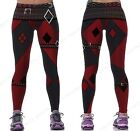 Red Harleen Quinzel Power Flex Yoga Leggings Batman Harley Quinn Fitness Gym Wor