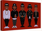 "NWA 8 Bit Red Art 30x20"" Canvas Wall Art Picture Print Framed"
