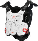 Alpinestars A-1 Offroad Motorcycle Riding Chest Roost Guard White Black Red