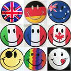 Embroidered Iron On / Sew On Patches Badges Transfers applique Smiley face patch