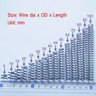 Wire Dia 0.9mm, OD 10-13mm, Length 10-100mm Helical Compression Springs Select